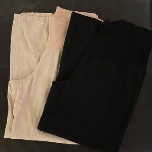 Pants - Petite Maternity Pants-2 Pair